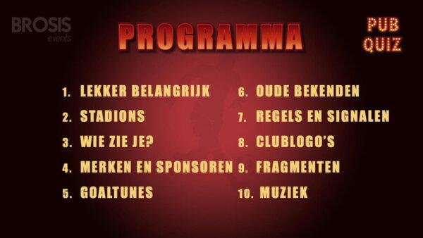 voetbal pubquiz programma